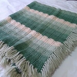 Hand made knit Afghan.